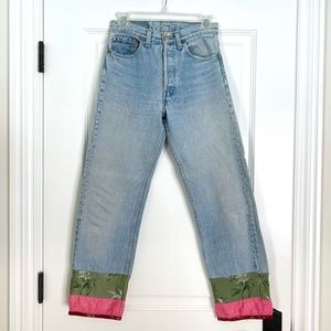Vintage Faded 501 Levi's Jeans with Silk Cuffs -28